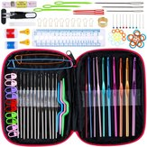 100pcs Ergonomic Crochet Hooks Set, Knitting Needle Kit & Zipper Organizer Case