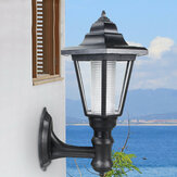 Outdoor Solar Powered Hexagon Shape Wall-Mount LED Lantern Light Garden Lawn Waterproof Wall Lamp