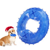 Dog Cooling Toy Puppy Teething Ring Freeze Dogs Chew Toy for Summer Tough Durable Pet Toys