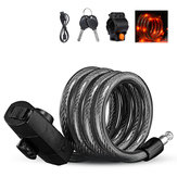 XANES 1.2m Mutifunction Anti-Theft Bike Lock Safe Tail Light Lock Usb Rechargeable Rainproof