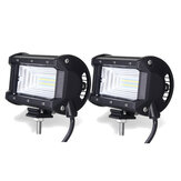 5 Pollici 72W LED Barre luminose da lavoro Beam IP67 10-30V Bianco 2 PZ per Jeep Off Road SUV Truck