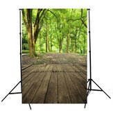 5x7ft Vinly Green Forest Tree Floor Backdrop Photography Photo Background Studio Prop