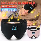 2-IN-1 draagbare draadloze bluetooth 5.0 3D stereo slimme muziek ademende slaap oogmasker blinddoek