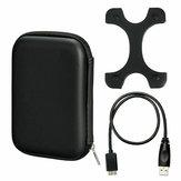 Case Bag + Micro USB 3.0 Câble + Housse Silicone Pour Boîtier Disque Dur 2.5