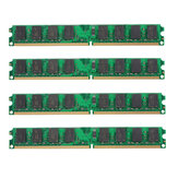 4PCS 2 GB DDR2-800 MHz PC2-6400 240 PIN DIMM AMD Carte Mère Ordinateur Mémoire RAM