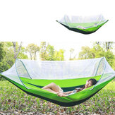 2 Person 260x150cm Hammock with Netting Mosquito Automatic Ultralight Folding Swing Sleeping Bed Camping Hiking Travel Max Load 300kg