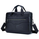 Mannen echt lederen schoudertas Business Travel Crossbody Messenger handtas aktetas