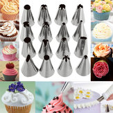 16-delige set Russische piping-tips Multi-shape icing noppen Cake-decoratie Top-bakaccessoires