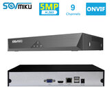 SOVMIKU SFNVR H.265 9CH 5MP CCTV NVR Mootion Detect CCTV Network Video Recorder ONVIF P2P Para IP Cámara 4MP / 3MP / 2MP Sistema de seguridad