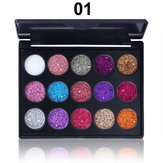 CmmaDu 15 Colors Brillare Palette per ombretti