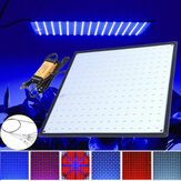 225 LED Grow Light Lámpara Panel ultrafino para hidroponía interior Planta Vegetal Flor AC85-265V