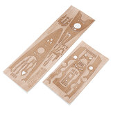 Wooden Deck for Tamiya 78013 1/350 German WWII Battleship Bismarck Model Vervanging Accessoires