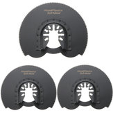 3pcs 88mm mezza scanalatura circolare sega Blades Ocsillating Multitool Accessori oscillanti Strumenti