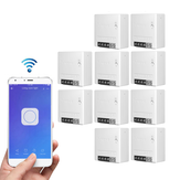 10stk SONOFF MiniR2 tovejs smart switch 10A AC100-240V Fungerer med Amazon Alexa Google Home Assistant Nest Understøtter DIY Mode Tillader Flash firmwaren