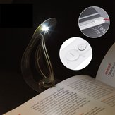 Creative Flexibele inklapbare LED-clip op leesboek Light Battery Powered Bookmark Desk Lamp