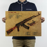 Art Gun Poster Pour Bar Pub Украшение Murale Mitraillette Home Decor