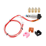 Assembled Extruder HotEnd + 0.4mm Brass Nozzle*4 + Silicone Heating Block Case*3 Kit Replacement Part for Creality 3D CR-10V2 3D Printer