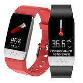[Detectie lichaamstemperatuur] Bakeey T1S SpO2 Hartslag-bloeddrukmeter GPS Sportroute Track Muziekcamerabesturing Smartwatch