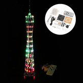 DIY Little Colorful LED Light Cube Canton Tower Suite IR Controle Remoto Kit eletrônico