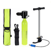 SMACO Scuba Diving Reserve Air Tank Set Hand Pump Oxygen Tank Cylinder Mini Operated Pump