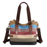 KVKY Women Canvas Stripe Handbags