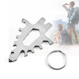 IPRee® Outdoor EDC Survival Tools Kit Multifunctional Stainless Steel Wrench Keychain Camping Emergency