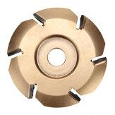 Fresa de disco de talla de madera de 90 mm y 6 dientes para carpintería para amoladora de ángulo de apertura de 16 mm