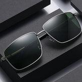Óculos de sol polarizados masculinos da moda UV com armação metálica de proteção