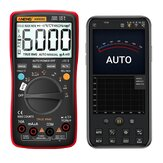 ANENG AN9002 Digital bluetooth True RMS Multimeter 6000 Counts Professional Auto Multimetro AC/DC Current Voltage Tester - Red