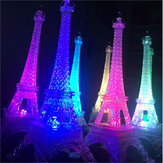 25.5cm Led Colors Changing Eiffel Tower Night Light Romantic Decorative Lights Decor Gift