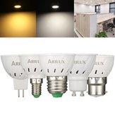 ARILUX® E27 E14 B22 GU10 MR16 3W 250LM SMD2835 60 LED Żarówka punktowa Pure White Ciepły biały AC220V