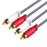 2rca to 2rcaデータケーブルオーディオケーブル1.5 / 3 / 5mオーディオケーブルコネクタワイヤースピーカーオーディオケーブルスピーカーオーディオ接続