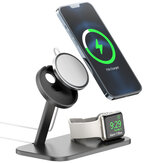 AODUKE 2-IN-1 For Magsafe Wireless Charger Dock Aluminium Alloy Mobile Phone Holder Stand for iPhone 12 iWatch