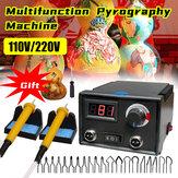 110V / 220V Digital Multifunction Pyrography Machine Gourd Wood Pyrography Crafts