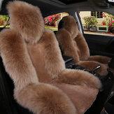 Universal Soft para carro de pele de carneiro dianteiro com capa de almofada de pele longa