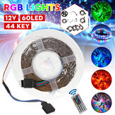 1M/3M/5M/10M/20M 3528SMD RGB LED Strip Light Non-waterproof Backlight TV Lamp DC12V + 44Keys Remote Control