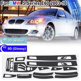 Voor BMW 5-serie E60 2003-10 glanzend / mat koolstofvezel sticker vinyl decal trim
