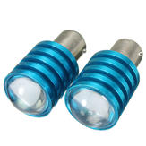 Pair Car 1157 BAY15D Q5 7W White LED Brake Turn Signal Reverse Light Bulbs P21/5W