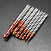 Drillpro 1-8mm 2 Flauti Punta di Fresa in Carburo di Tungsteno HRC55 AlTiN Utensile CNC Rivestito