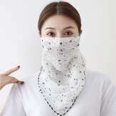 Lenço protetor solar Rosto de equitação respirável montado na orelha Máscara Pescoço de impressão de secagem rápida no verão Máscara