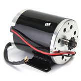 24V 500W 28.5A Electric Brushed Motor 2500Rpm w / bracket Untuk Scooter E-Bike Mini Bike Go Kart