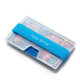 NewBring Transparent Card Holder Luminous Card Money Small Wallet ID Holder High Capacity Office Business
