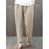 Kadınlar Elastik Bel Çizgili Harem Casual Gevşek Pantolon