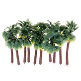10Pcs Mini Artificial Trees Yellow Leaf Coconut Tree Home Office Party Decorations