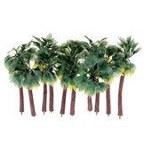 10 sztuk Mini sztuczne drzewa żółty liść drzewo kokosowe dekoracje do domowego biura