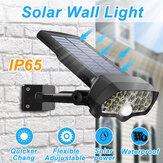 30W 16LED panneau solaire réverbère PIR capteur de mouvement 360 ° gradation lampe murale extérieure pour chemin de jardin chemin