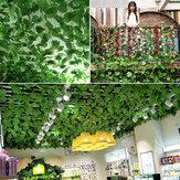Kunstmatige wijnstokken druivenbladeren groene bladplanten Plafonddecoratie buizen om klimplanten te blokkeren