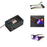 Receptor DumboRC X6DC 2.4G 6CH c / Módulo de Luz LED para peças sobressalentes do transmissor X4 X5 X6 RC