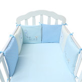 6PC A Set Baby Bed Pare-chocs en coton de sécurité Infant Toddler Nursery Beding Protection
