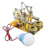 STEM Mini hete lucht Stirling Engine Generator Model met dubbele cilindermotor